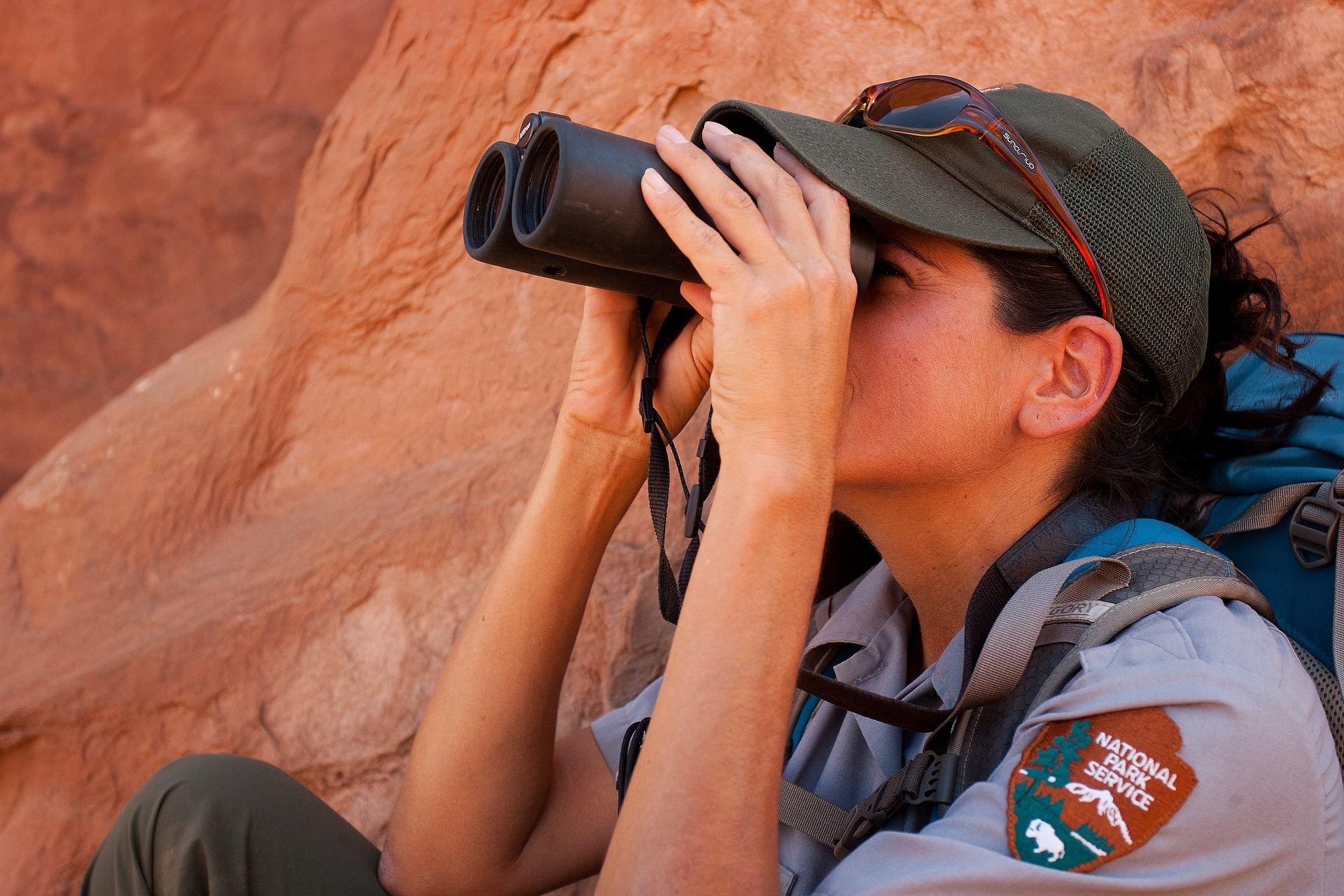 park-ranger-bird-watching-binoculars