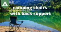 camping chair bad back