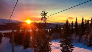 winter time sunrise