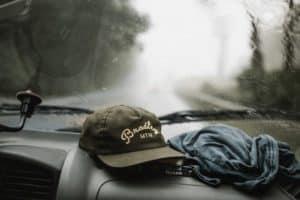 raining on the windshield