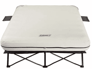 Coleman Camping Cot with camping mattress for couples