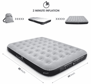 Enerplex camping mattress for couples