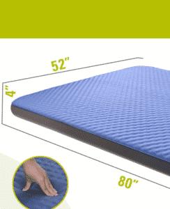 QOMOTOP camping mattress for couples
