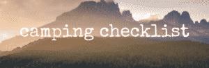 camping checklist banner