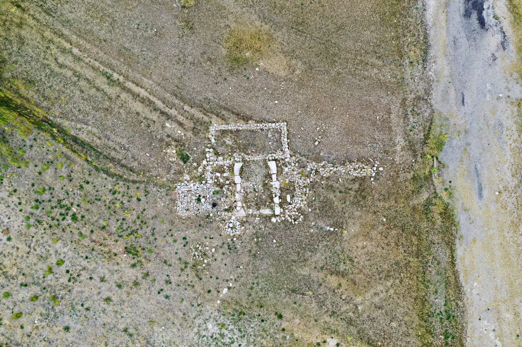 drone shot of Rockport Reservoir ghost town by Devon Dewey