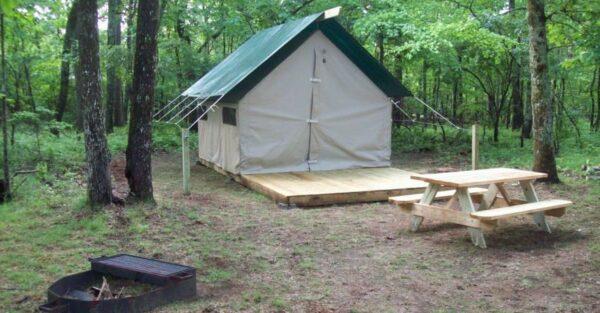 Wall Tent Campsite